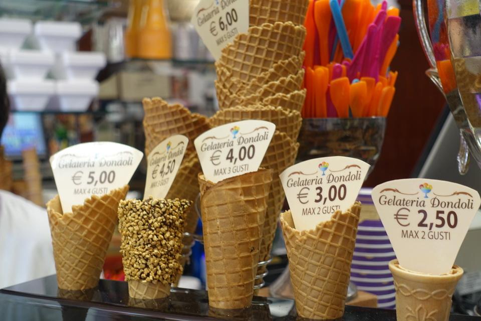 ราคาโคนไอศกรีม